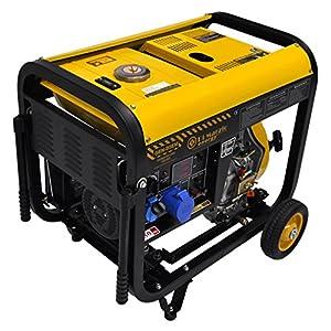 Generatore di corrente 4.5 kw diesel - gruppo elettrogeno avviamento elettrico e manuale 51AN46opIzL. SS300
