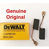 "Genuine Original DeWALT Carbon Brushes 402874-03 402874-01 Set for DW803 Type 1-3 , DW831 Types 1 – 3 , DW4008BR Type 1 & Black and Decker 27724 Type 1 , Craftsman 900277240 5"" Angle Grinder DW14"