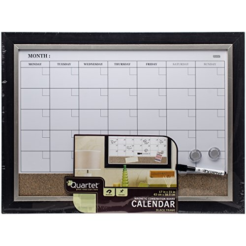 Magnetic Hanging Whiteboard Calendar and Corkboard