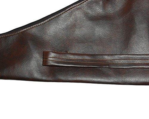 Toparchery 150cm* 27cm Leder Bogentasche für Longbogen u. Recurvebogen Tasche (dunkel Braun)