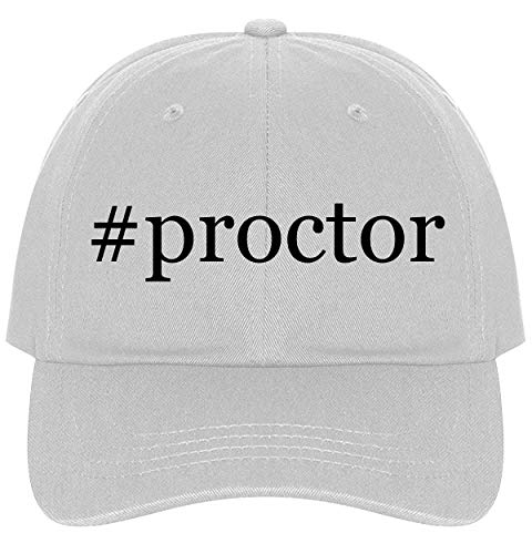 ctor - A Nice Comfortable Adjustable Hashtag Dad Hat Cap, White ()