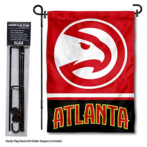 - WinCraft Atlanta Hawks Garden Flag with Stand Holder