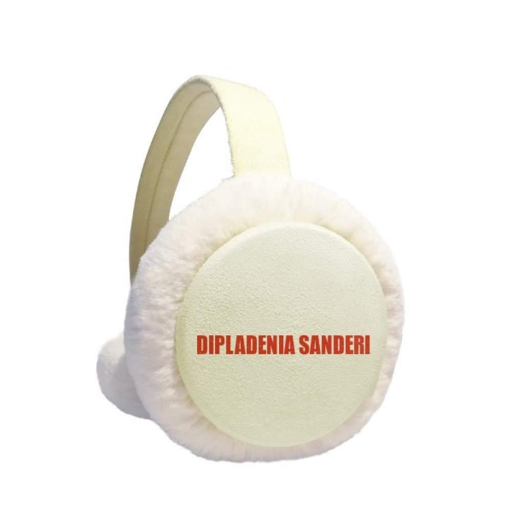 Dipladenia Sanderi Flower Red Earmuff Ear Warmer Faux Fur Foldable Outdoor