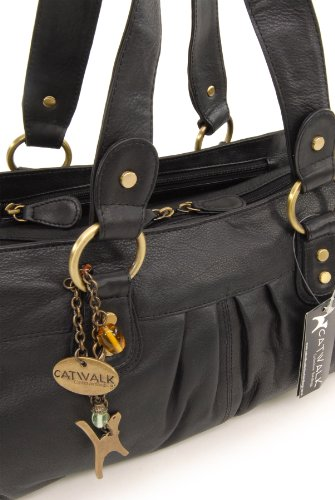 Bella Catwalk Catwalk Handbag Leather Handbag Collection Leather Black Collection Bella rxr8Tq