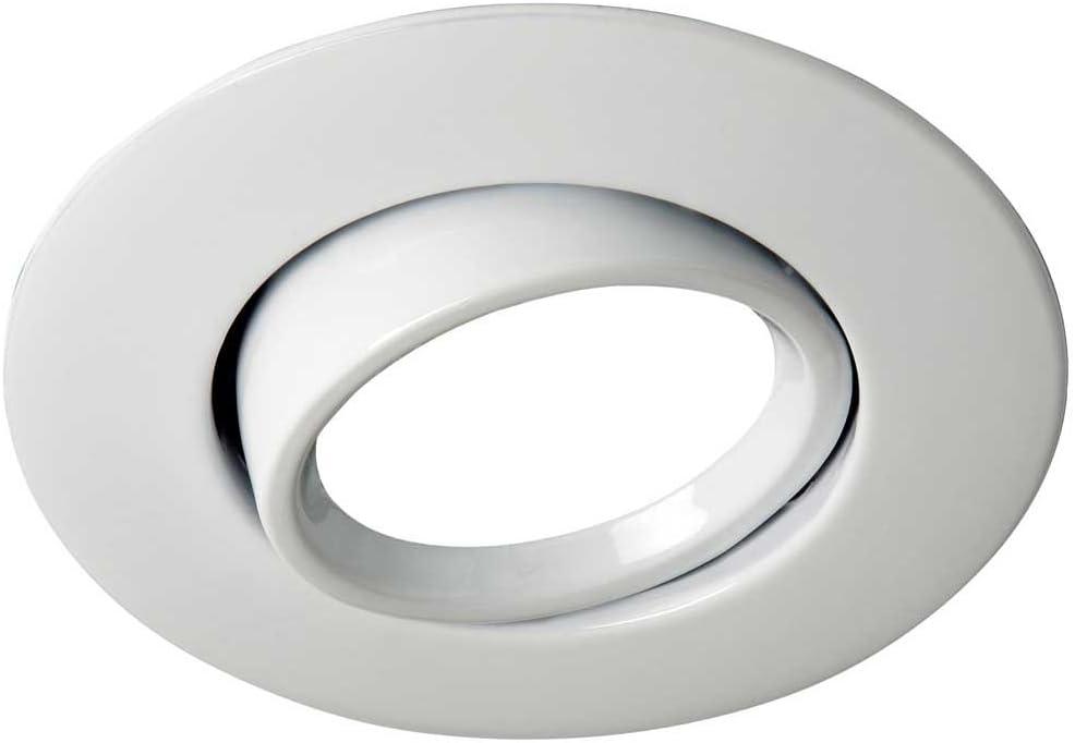 Wonderlamp Foco empotrable para el techo ROUND II color blanco. Ojo de buey basculante 45º. Incluye portalámparas GU10. 220v. Diámetro 10 cm.