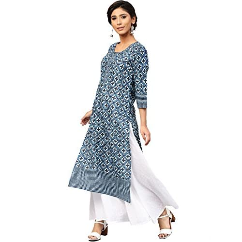 51AN5ld2etL. SS500  - Amayra Women's Cotton Straight Kurti