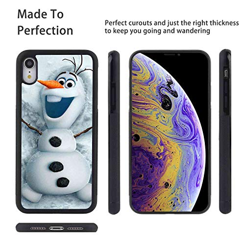 (DISNEY COLLECTION Cover Case for iPhone Xr [6.1in] Angel Disney Frozen Olaf Snow Snowman)