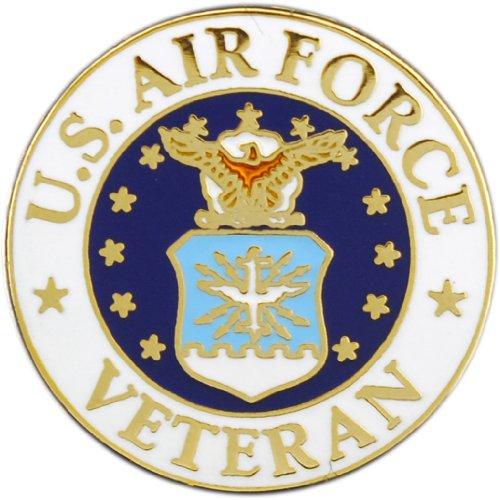 Lapel Hat - EagleEmblems United States Air Force Veteran Logo Emblem Lapel/Hat Pin