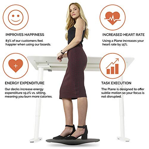 Balance Board for Standing Desk | Wobble Board for Under Desk Exercise by FluidStance by FluidStance (Image #3)