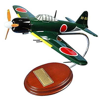 Mastercraft Collection Mitsubishi A6M Zero Green World War II Imperial Japanese Navy Airplane Plane Fighter Model Scale:1/39