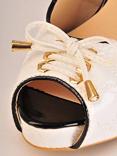 Austen9716 - Plataforma Mujer Blanco - blanco
