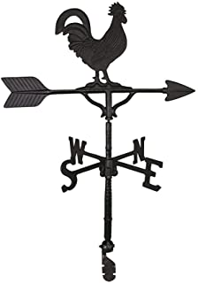 product image for Montague Metal Products 32-Inch Weathervane with Satin Black Rooster Ornament