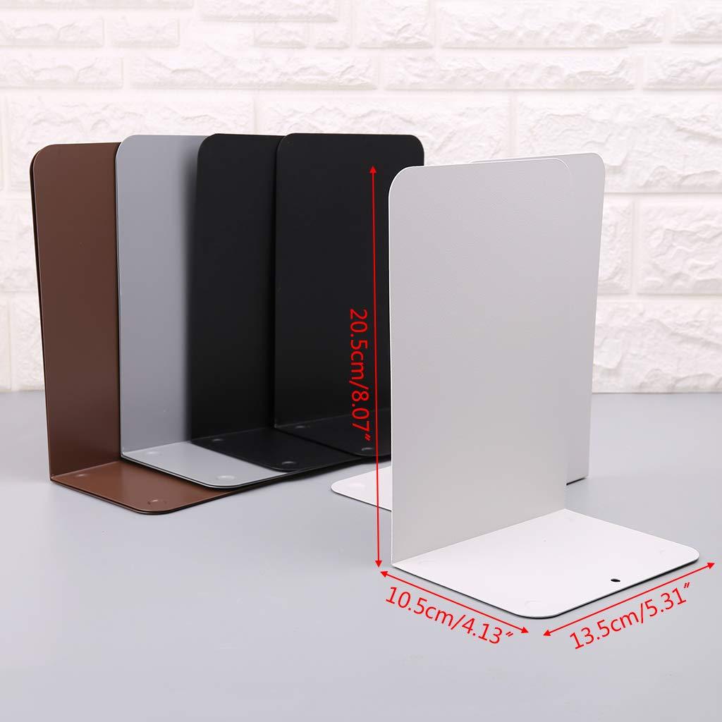 oficina 1 par de sujetalibros de metal para escritorio hogar color negro app.13.5x10.5x20.5cm//5.31x4.13x8.07in Lagand soporte de almacenamiento libro