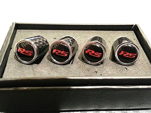 RS Red Logo Emblem Audi Audisport Quattro S Sport Full Carbon Fiber Custom Automotive Tire Valve Stem Caps for all models Perfect Fitment Gloss Finish CF Carbon Weave Rs Spyder Cap