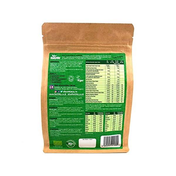 BodyMe Organic Vegan Protein Snacks Bites | Raw Cacao Mint | 100 Protein Snack Bites | 27 Percent Protein | Gluten Free | 3 Plant Proteins | All Essential Amino Acids | High Protein Vegan Snacks