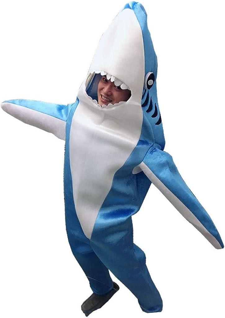 Luxfan Fleece Kids Shark Onesie Halloween Costume Cosplay Funny Outfit Jumpsuit