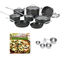 Cuisinart 66-17 Cuisinart Chefs Classic Nonstick Hard-Anodized 17-piece Cookware Set + Heavy-Duty Stainless Measuring Cup Set + Not Your Mother