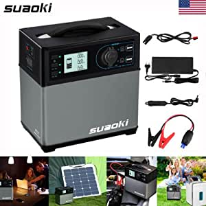 Portable 400Wh Solar Electric Power Generator Supply RV Car Jump Starter Charger