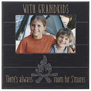 "Malden International Designs Sentiments ""Campfire Grandkids Distressed"" Picture Frame, 4 by 6-Inch, Brown"