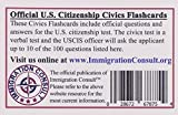 US Citizenship test preparation civics pocket flash cards to help study for the naturalization and civics test with all official 100 USCIS questions and answers - illustrated