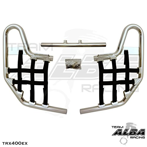 TRX 400EX SPORTRAX (1999-2014) Standard Nerf Bars - Compatible with Honda - Silver Bars - Compatible with Honda - w/Black Net