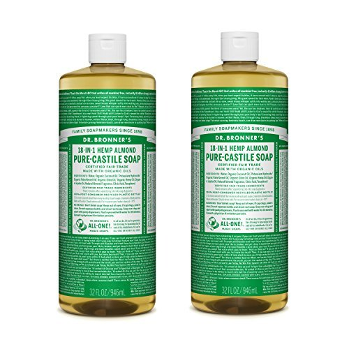 Dr. Bronner's Pure-Castile Liquid Soap Value Pack - Almond 32oz. (2 Pack)