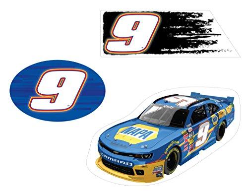 - NASCAR #9 CHASE ELLIOT 3 PC DECAL SET-CHASE ELLIOT 3 PIECE STICKER SET