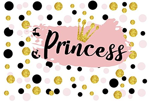 Leyiyi 5x3ft Photography Backgroud Princess Baby Shower Backdrop Pajama Party Glitter Spots Royal Luxry Crown Celebrity Catwalk Vlogger Kids Girls Happy Birthday Photo Portrait Vinyl Studio Prop -