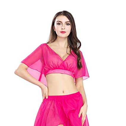 ROYAL SMEELA Mujeres Hot Pink Sexy Fashion Belly Dance Top ...