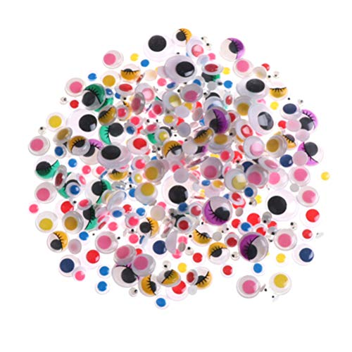 Colorful Lucky Evil Eye Wiggle Googly Eyes Resin Flatback Scrapbooking Dome Cabochons Buttons Dragon Bear Plush Annimal Toy Eyes Accessory for Jewelry Pendant Settings 1500 Pcs