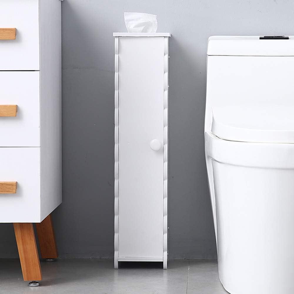 Henf White Small Bathroom Storage Corner Floor Cabinet With Doors And Shelves Toilet Tissue Storage Tower Shelf Narrow Bath Sink Organizer Towel Storage Shelf For Paper Holder Molde 1 Furniture Decor