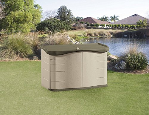 Amazon.com  Premium Storage Shed Rubbermaid Sheds for Outdoor Garden or Patio in Plastic Horizontal Design  Garden u0026 Outdoor & Amazon.com : Premium Storage Shed Rubbermaid Sheds for Outdoor ...