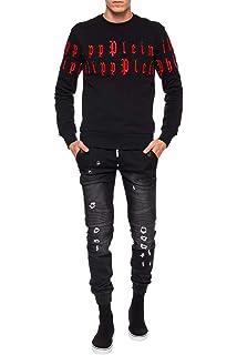 590cb8701f00d Philipp Plein - Hoshi - Crewneck Sweatshirt with Crystal Rhinestones ...