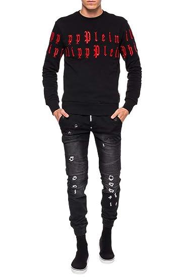 Philip Plein Sweatshirt LS Gothic P Black  Amazon.co.uk  Clothing 6491769ddf