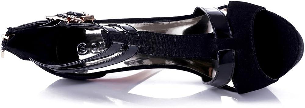 GATUXUS Open Toe Platform Strappy High Heel Party Prom Pumps Shoes Sandals for Women