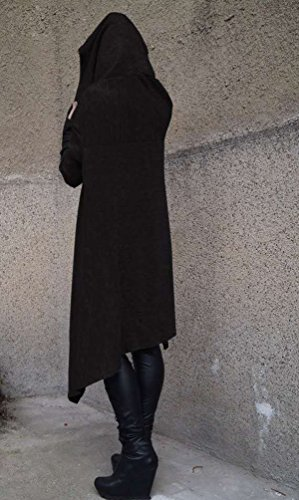 Sudaderas con Capucha Largas Mujer Sudaderas Chica Jerseys Vestido Sudadera Larga Deportivas Camisetas de Manga Larga Dama Pullover Oversize Top Bonitas Femeninas Negro