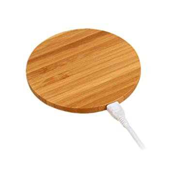 Minia Qi Wireless Charger Wireless Charging Round Bamboo Plate for Samsung Galaxy / IPhone  sc 1 st  Amazon UK & Minia Qi Wireless Charger Wireless Charging Round Bamboo Plate ...