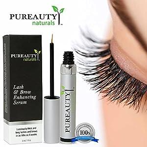 Eyelash Growth Serum & Eyebrow Enhancer With Biotin | Highly Potent Formula, Long Lasting Results | Enjoy Longer, Fuller, Thicker & More Luscious Lashes | Pureauty Naturals