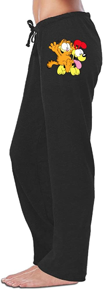 Z-Jane Odie and Garfield Sweatpants Running Pants for Women Black