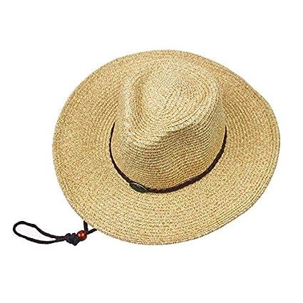 cad9355291cce0 Amazon.com: LYEJM Unisex Panama Folding Straw Cowboy Hat Classic Western  Beach Sun Wide Brim Bucket Caps (Color : Color Green, Size : One Size):  Kitchen & ...
