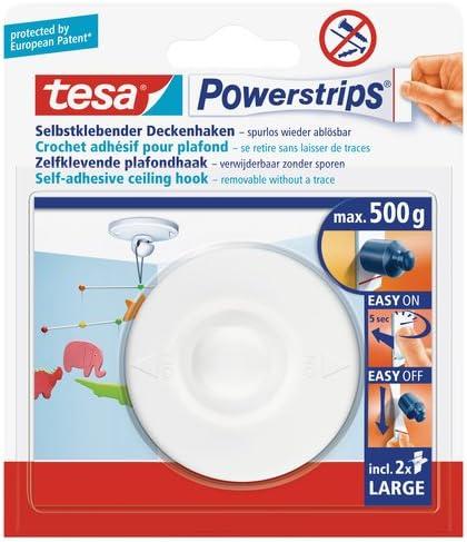 Tesa 58029 Powerstrips Crochets De Plafond Blanc