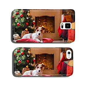 Jack Russell dog at the Christmas and New Year cell phone cover case iPhone6