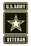 "Automotive : U.S. Army Veteran Small Decal 3"""