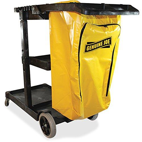 Genuine Joe GJO02342 Industry Workhorse Janitor's Cart, 30-3