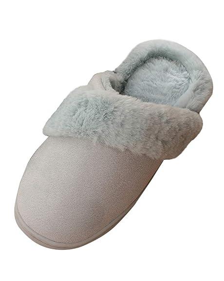 Suncaya Donna Uomo Pantofole Warmer Peluche Pelliccia Flip Flops Pantofole  Antiscivolo Scarpe per Autunno Inverno  Amazon.it  Scarpe e borse 5f4b7c59ed4