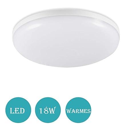 Lámpara LED de techo, 18 W Lámpara de techo de radar sensor de movimiento,