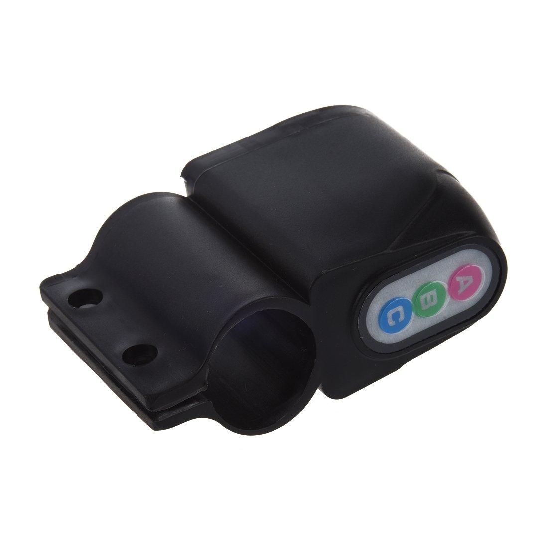 SODIAL(R) Cerradura Alarma de Seguridad para Moto Bicicleta Ciclomotor