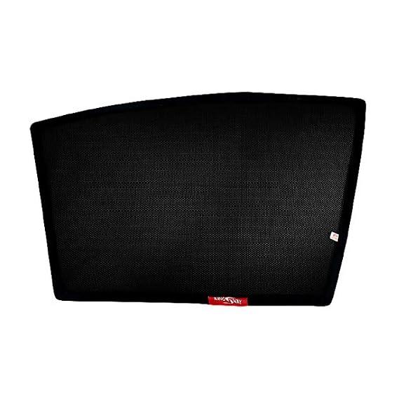Kingsway Kkmmsshf00018 Half Magnetic Sun Shades/Curtains for Maruti Suzuki Sx4 (Black, Pack of 4)