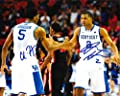 Aaron Harrison & Andrew Harrison - Signed 8x10 UK Kentucky Wildcats Photo w/ COA