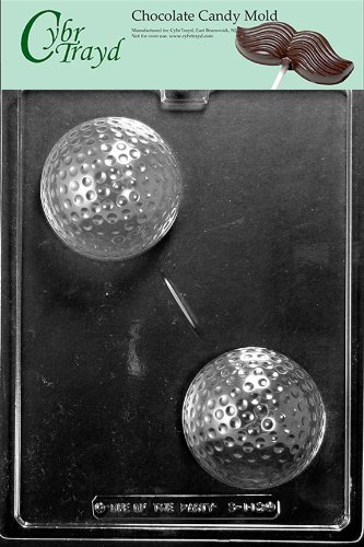 Cybrtrayd S112 Sports Chocolate Candy Mold, Large Golf Ball ()